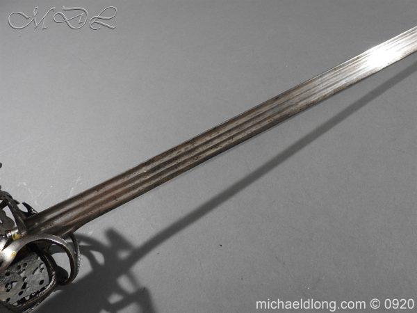 michaeldlong.com 11308 600x450 Scottish Infantry Officer's Back Sword c 1720