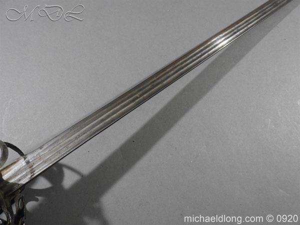 michaeldlong.com 11312 600x450 Scottish Infantry Officer's Back Sword c 1720