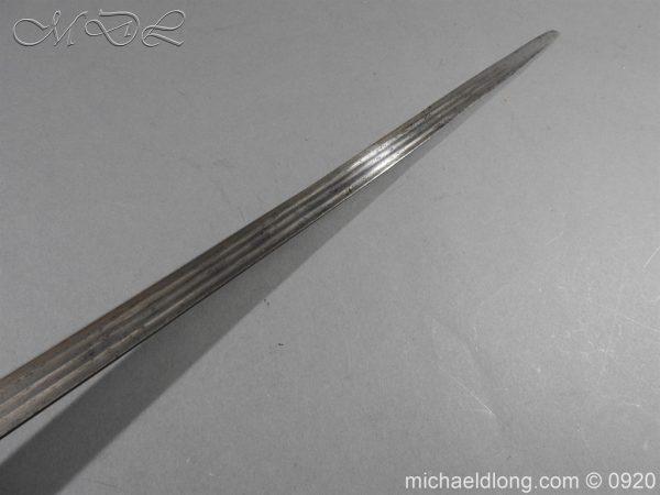 michaeldlong.com 11313 600x450 Scottish Infantry Officer's Back Sword c 1720