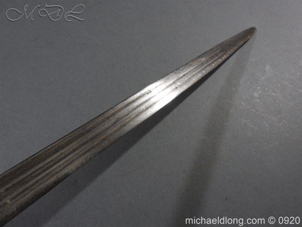 michaeldlong.com 11317 600x450 Scottish Infantry Officer's Back Sword c 1720