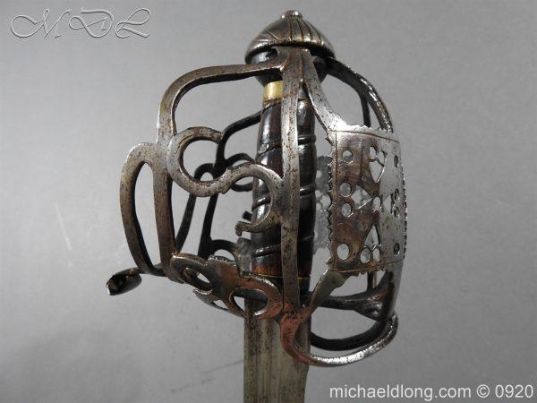 michaeldlong.com 11319 600x450 Scottish Infantry Officer's Back Sword c 1720