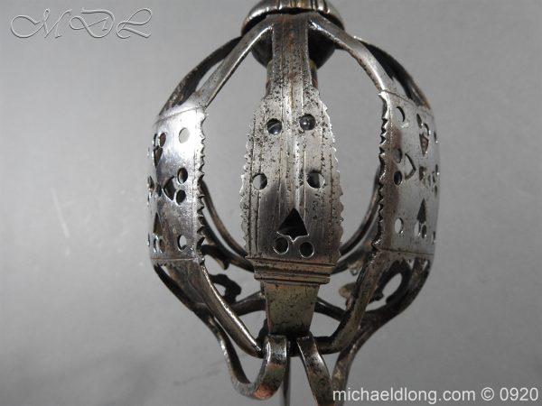 michaeldlong.com 11321 600x450 Scottish Infantry Officer's Back Sword c 1720