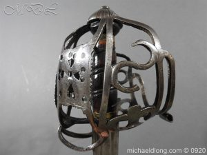 michaeldlong.com 11322 300x225 Scottish Infantry Officer's Back Sword c 1720