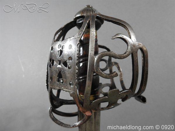 michaeldlong.com 11322 600x450 Scottish Infantry Officer's Back Sword c 1720