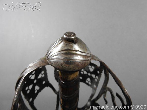 michaeldlong.com 11326 600x450 Scottish Infantry Officer's Back Sword c 1720