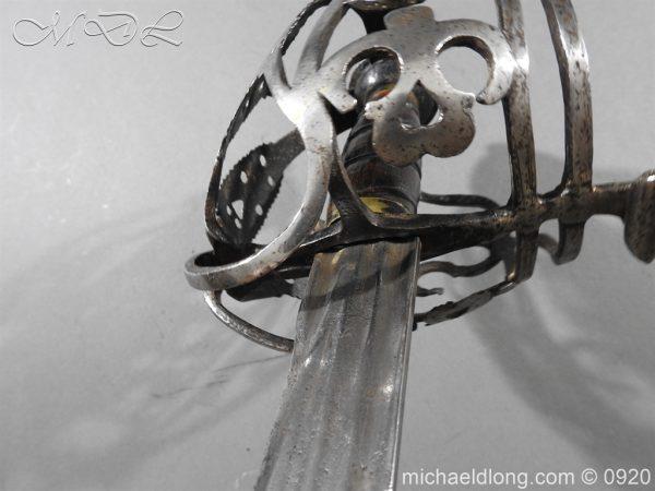 michaeldlong.com 11327 600x450 Scottish Infantry Officer's Back Sword c 1720
