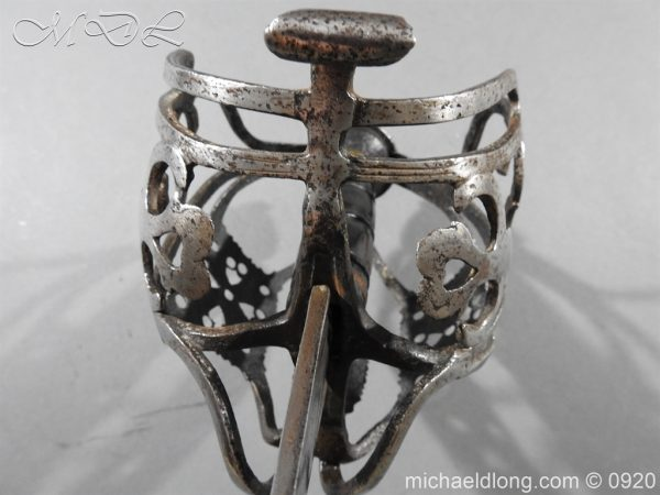 michaeldlong.com 11328 600x450 Scottish Infantry Officer's Back Sword c 1720