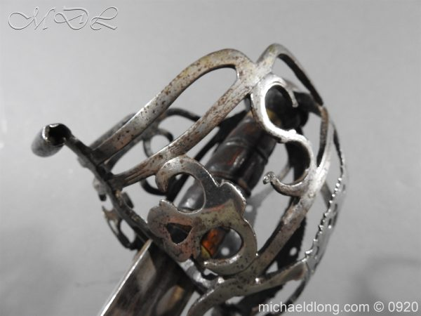 michaeldlong.com 11330 600x450 Scottish Infantry Officer's Back Sword c 1720