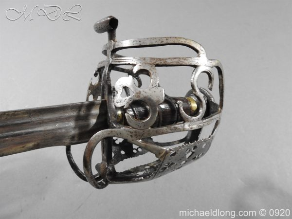michaeldlong.com 11331 600x450 Scottish Infantry Officer's Back Sword c 1720