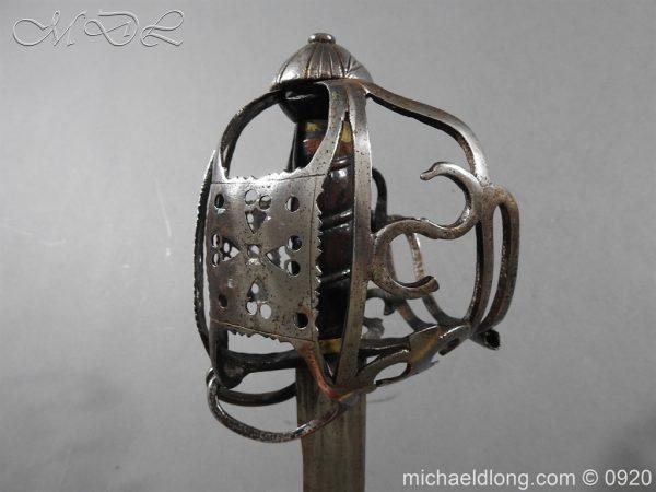 michaeldlong.com 11332 600x450 Scottish Infantry Officer's Back Sword c 1720