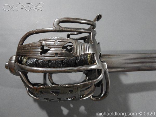 michaeldlong.com 11334 600x450 English Dragoon Officer's Basket Hilted Sword c 1740