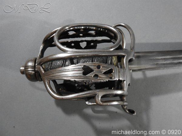 michaeldlong.com 11338 600x450 English Dragoon Officer's Basket Hilted Sword c 1740