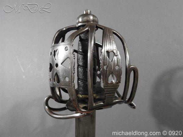 michaeldlong.com 11347 600x450 English Dragoon Officer's Basket Hilted Sword c 1740