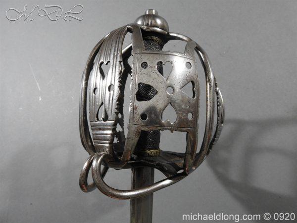 michaeldlong.com 11348 600x450 English Dragoon Officer's Basket Hilted Sword c 1740