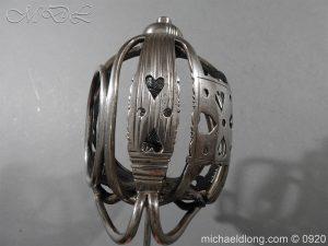 michaeldlong.com 11349 300x225 English Dragoon Officer's Basket Hilted Sword c 1740