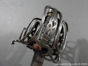michaeldlong.com 11351 300x225 English Dragoon Officer's Basket Hilted Sword c 1740