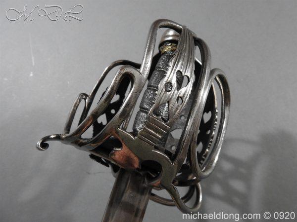 michaeldlong.com 11351 600x450 English Dragoon Officer's Basket Hilted Sword c 1740