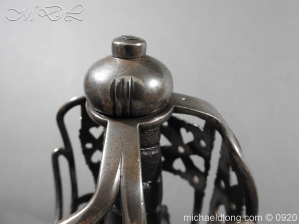 michaeldlong.com 11352 600x450 English Dragoon Officer's Basket Hilted Sword c 1740