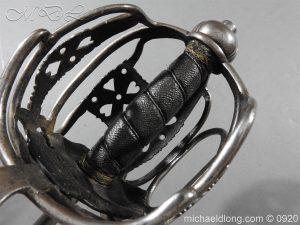 michaeldlong.com 11353 300x225 English Dragoon Officer's Basket Hilted Sword c 1740