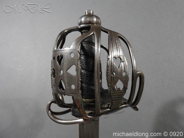 michaeldlong.com 11355 600x450 English Dragoon Officer's Basket Hilted Sword c 1740