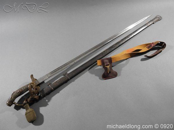 michaeldlong.com 11439 600x450 Imperial German Model 1889 Infantry Officer's Sword Damascus Blade