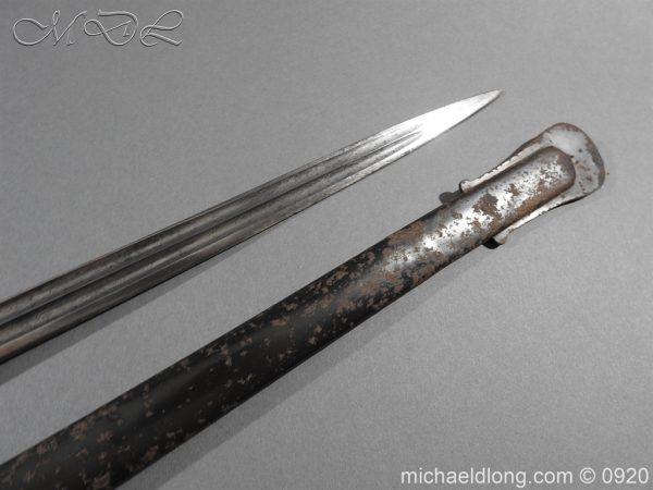 michaeldlong.com 11444 600x450 Imperial German Model 1889 Infantry Officer's Sword Damascus Blade