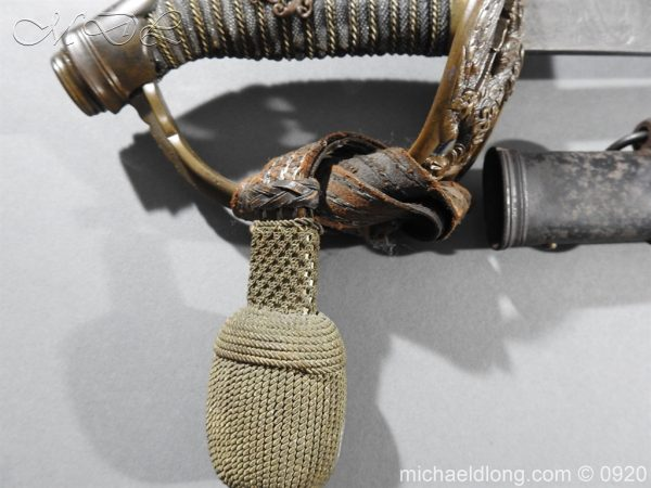 michaeldlong.com 11445 600x450 Imperial German Model 1889 Infantry Officer's Sword Damascus Blade