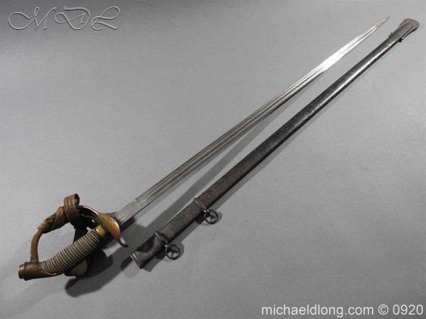 michaeldlong.com 11446 600x450 Imperial German Model 1889 Infantry Officer's Sword Damascus Blade