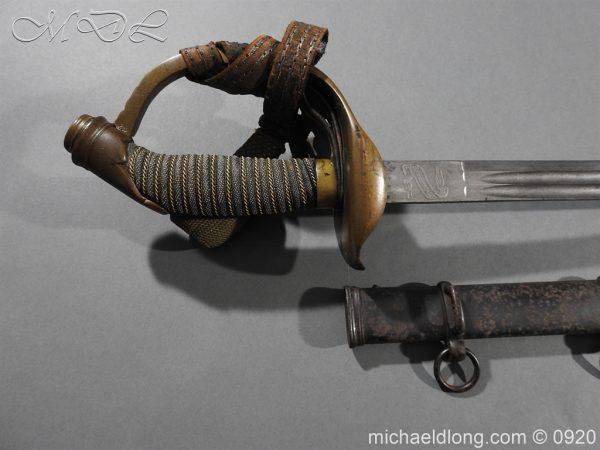 michaeldlong.com 11447 600x450 Imperial German Model 1889 Infantry Officer's Sword Damascus Blade