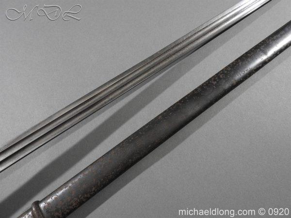 michaeldlong.com 11448 600x450 Imperial German Model 1889 Infantry Officer's Sword Damascus Blade