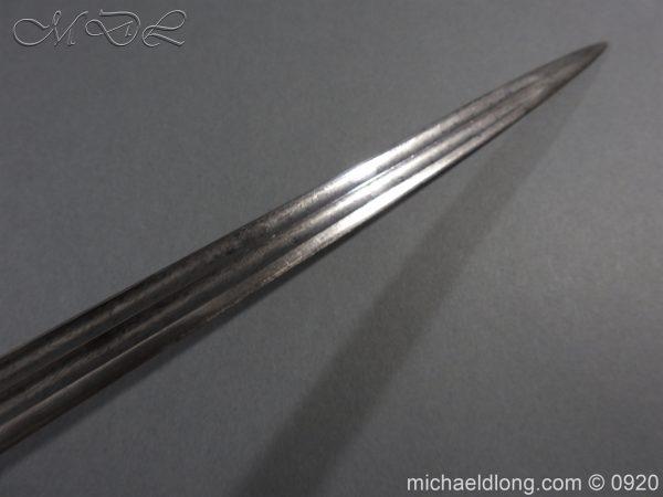 michaeldlong.com 11456 600x450 Imperial German Model 1889 Infantry Officer's Sword Damascus Blade