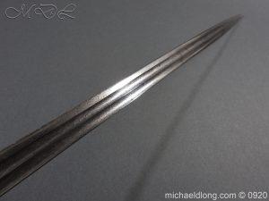 michaeldlong.com 11461 300x225 Imperial German Model 1889 Infantry Officer's Sword Damascus Blade
