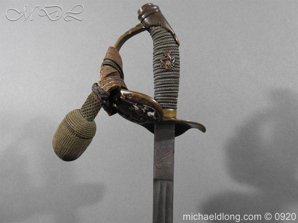 michaeldlong.com 11462 600x450 Imperial German Model 1889 Infantry Officer's Sword Damascus Blade