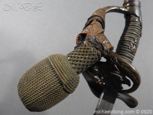 michaeldlong.com 11466 300x225 Imperial German Model 1889 Infantry Officer's Sword Damascus Blade