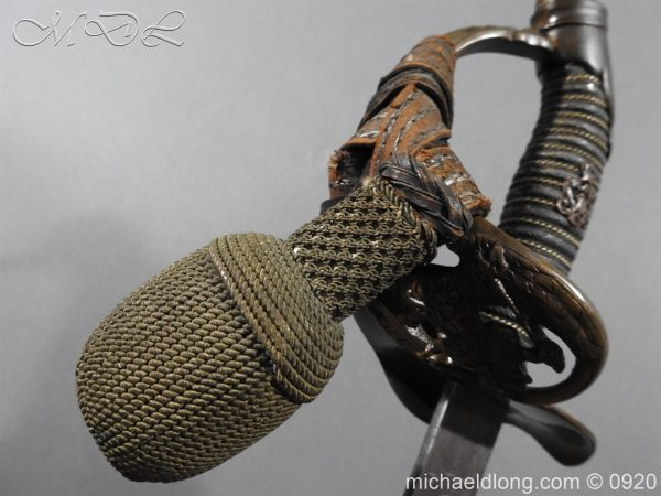 michaeldlong.com 11466 600x450 Imperial German Model 1889 Infantry Officer's Sword Damascus Blade