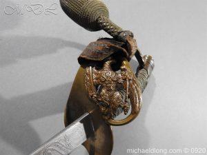 michaeldlong.com 11470 300x225 Imperial German Model 1889 Infantry Officer's Sword Damascus Blade