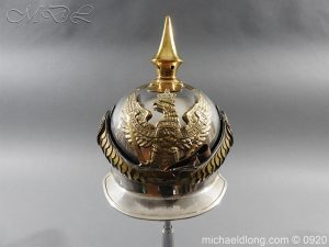 Prussian Kurassier Officer's Helmet dated 1916