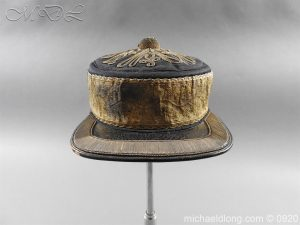 Victorian 2nd Dragoon Guards Peaked Forage Cap