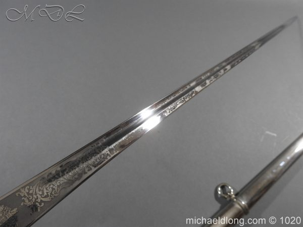 michaeldlong.com 11934 600x450 British Officer's 1912 Sword by Wilkinson Parade Condition