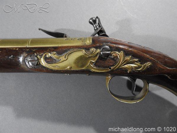 michaeldlong.com 12227 600x450 Brass Mounted Flintlock Holster Pistol By Barbar of London