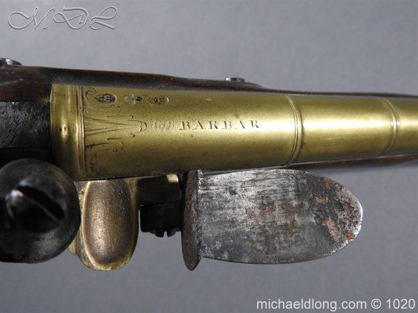michaeldlong.com 12232 600x450 Brass Mounted Flintlock Holster Pistol By Barbar of London
