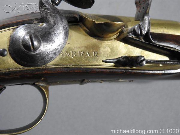 michaeldlong.com 12234 600x450 Brass Mounted Flintlock Holster Pistol By Barbar of London