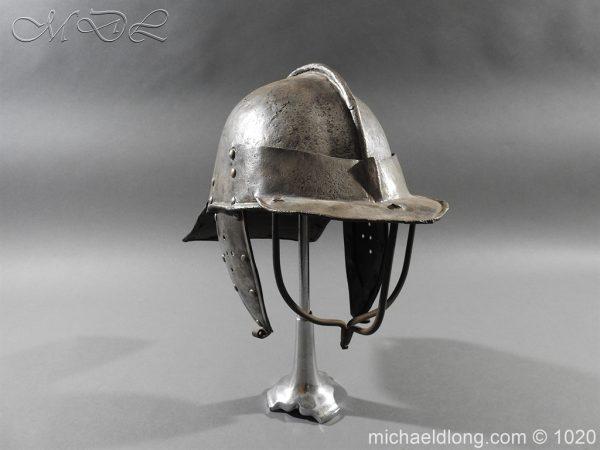 michaeldlong.com 12260 600x450 17th Century English Civil War Harquebusier's Lobster Tail Helmet