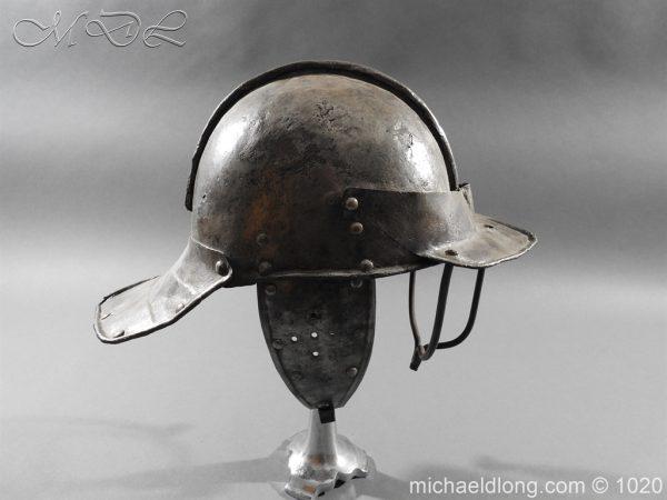michaeldlong.com 12261 600x450 17th Century English Civil War Harquebusier's Lobster Tail Helmet