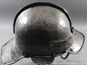 michaeldlong.com 12262 300x225 17th Century English Civil War Harquebusier's Lobster Tail Helmet