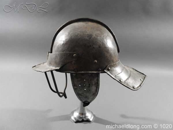 michaeldlong.com 12266 600x450 17th Century English Civil War Harquebusier's Lobster Tail Helmet