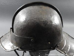michaeldlong.com 12267 300x225 17th Century English Civil War Harquebusier's Lobster Tail Helmet