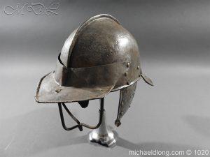 michaeldlong.com 12268 300x225 17th Century English Civil War Harquebusier's Lobster Tail Helmet