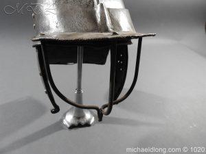 michaeldlong.com 12270 300x225 17th Century English Civil War Harquebusier's Lobster Tail Helmet