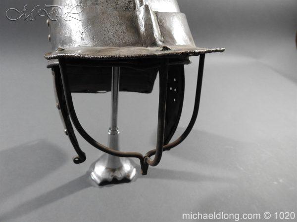 michaeldlong.com 12270 600x450 17th Century English Civil War Harquebusier's Lobster Tail Helmet